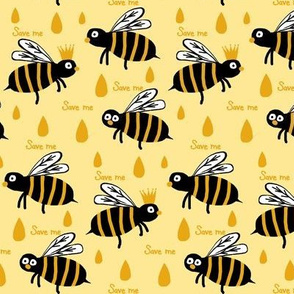 Save / The Reign of the Honey Bee   -Retro Yellow & Gold