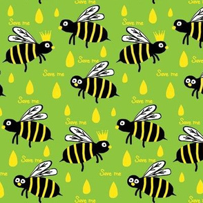 Save / The Reign of the Honey Bee   -Retro lime green and yellow