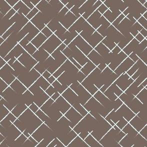 Neutral textured stripes Brown blue