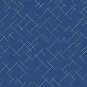Textured stripes blue green