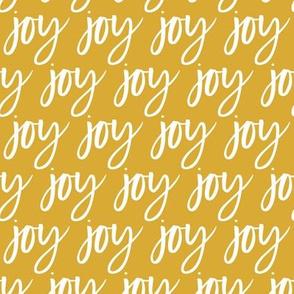 Joy - Christmas gold typography - LAD19