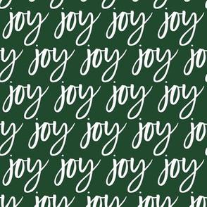 Joy - Christmas green typography - LAD19