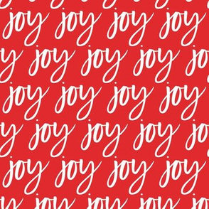 Joy - Christmas red  typography - LAD19
