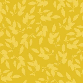 Yellow Leaves Silhouette