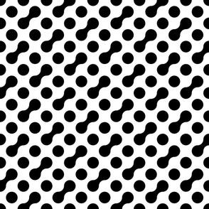 BW Connected Polka Dots