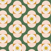 Shapes As Flowers | Retro Colors