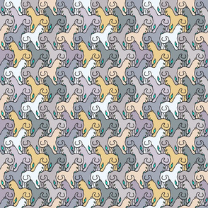 Happy Cats Natural on Teal - small