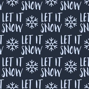 Let it Snow - blue on blue - Christmas Winter Holiday - LAD19