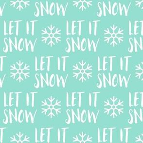 Let it Snow - aqua - Christmas Winter Holiday - LAD19