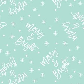 Merry & Bright - holiday winter christmas - mint - LAD19