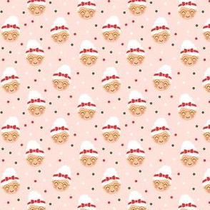 """(3/4"""" scale) Mrs. Claus - polka dots on pink - LAD19BS"""