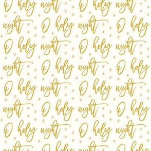 O holy night - gold on cream - holiday christmas winter - LAD19