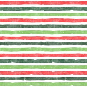Christmas Stripes - green & red - LAD19