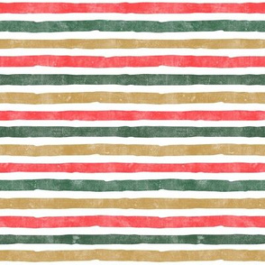 Christmas Stripes - gold, green, red - LAD19