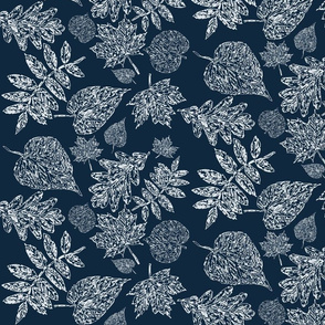 A Sketch of Winter Leaves
