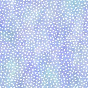Med White Spots on Aqua Lavender