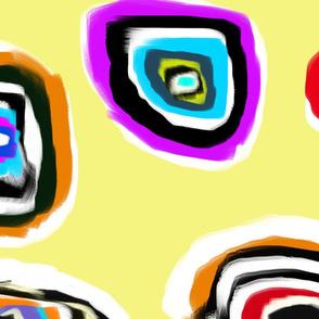 Ovals On Light Yellow
