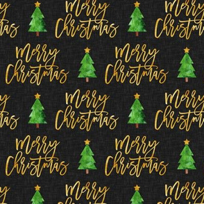 Merry Christmas - script tree on dark grey - LAD19