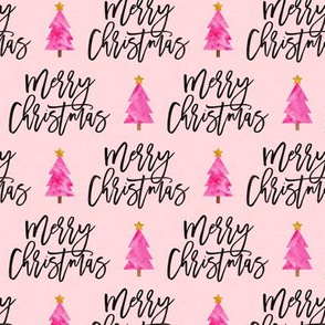 Merry Christmas - script tree on pink - LAD19