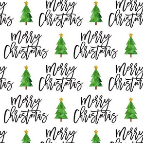Merry Christmas - script tree on white - LAD19