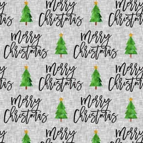 Merry Christmas - script tree on grey - LAD19