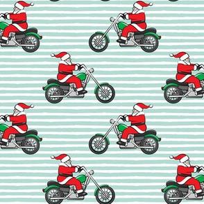 Chopper (motorcycle) Santa - mint stripes - LAD19