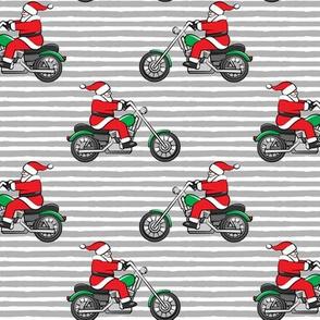Chopper (motorcycle) Santa -  grey stripes - LAD19