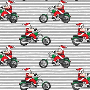 Chopper (motorcycle) Sleeveless Santa - grey stripes - LAD19