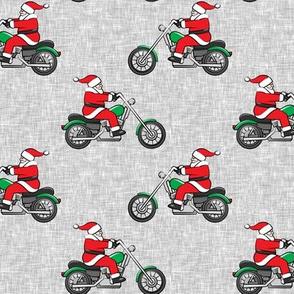 Chopper (motorcycle) Santa - grey  - LAD19