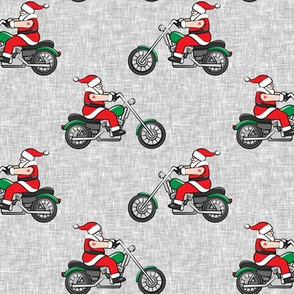 Chopper (motorcycle) Sleeveless Santa - grey  - LAD19