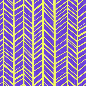 bright  herringbone purple and acid green