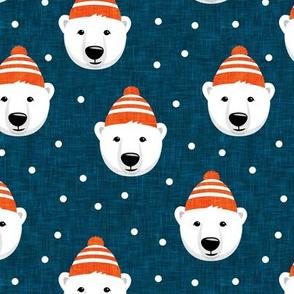 Winter bears - blue - LAD19