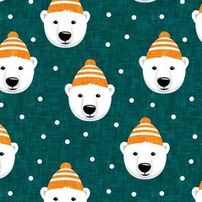 Winter bears - teal - LAD19