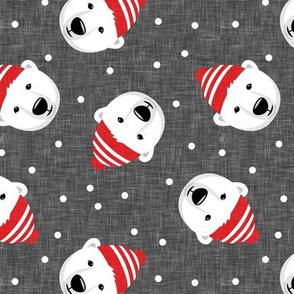 Winter bears - toss - grey - LAD19