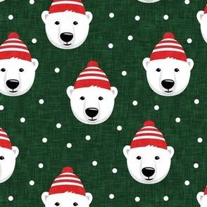 Winter bears - green - LAD19