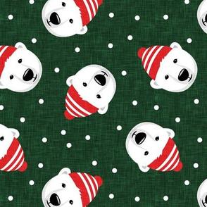 Winter bears - toss - green - LAD19