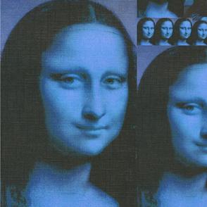 Mona Lisa Blue Smiles