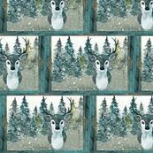 Winter deer framed