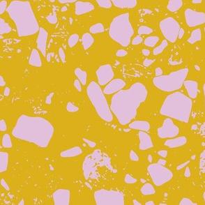Terrazzo mustard pink