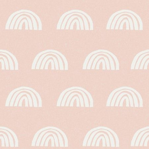 Scattered Rainbows Fabric - blush sfx1404 || Earth toned rainbows fabric || Rainbow Baby kids bedding