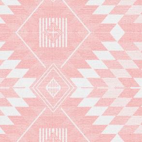 geometric kilim light pink large scale
