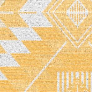 geometric kilim yellow large scale