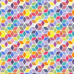 Bright Rainbow Hexagons