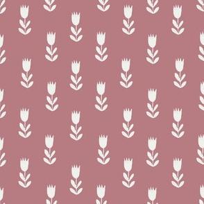 tulips fabric - sfx1718, earth toned fabric, baby fabric, linen trend, terracotta, prairie, baby girl fabric, hippie boho fabric, linocut tulips fabric