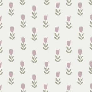 tulips fabric - sfx1905, sfx0110, earth toned fabric, baby fabric, linen trend, terracotta, prairie, baby girl fabric, hippie boho fabric, linocut tulips fabric