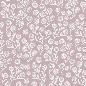 daisies fabric - lilac sfx1905 - daisy fabric, delicate ditsy floral fabric, ditsy daisies, prairie floral fabric, baby girl fabric, trendy nursery fabric
