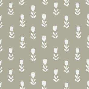 tulips fabric - sfx0110, earth toned fabric, baby fabric, linen trend, terracotta, prairie, baby girl fabric, hippie boho fabric, linocut tulips fabric
