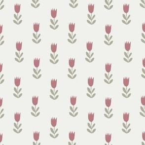 tulips fabric - sfx1718, sfx0110, earth toned fabric, baby fabric, linen trend, terracotta, prairie, baby girl fabric, hippie boho fabric, linocut tulips fabric