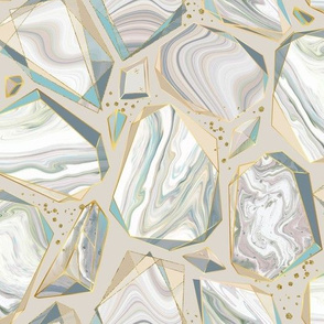 Marble Shards on Beige