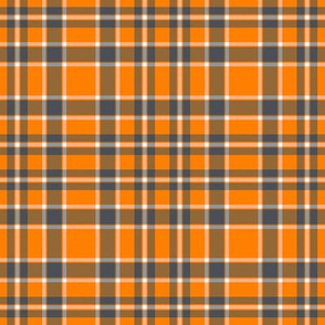 Volunteers Orange Gray White School Team Colors Plaid